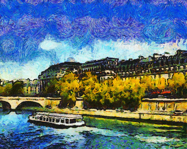 Digital Oil Painting of Pont Neuf in Paris