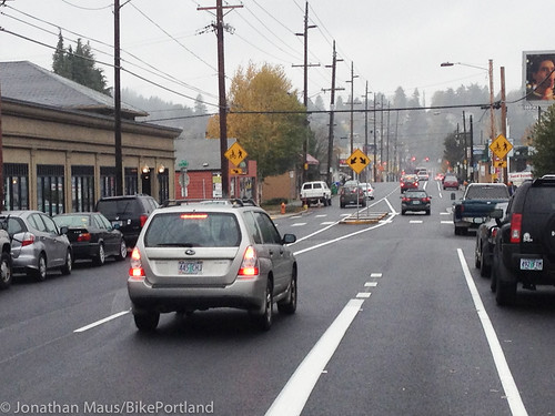 New bike lanes SE Stark-3