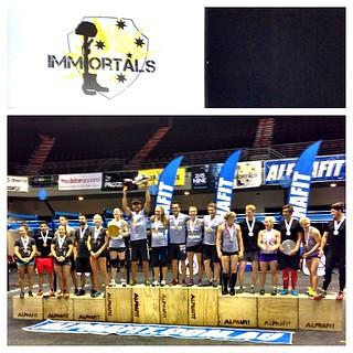 InnerFights @ifms7 on the winning team @immortalschallenge #australia with @talaynaf @samjaynebriggs #crossfit #winning #innerfight #goldcoast #australia
