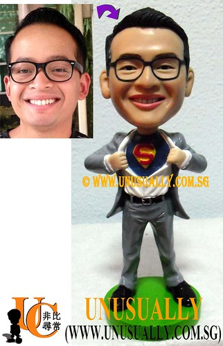 Unusually Creation Custom 3D Super Cool Man Figurine - @www.unusually.com.sg