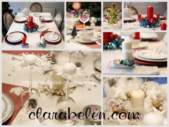 Decorar cena de Navidad con copas-candelabros
