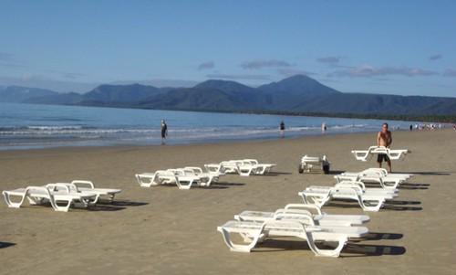 Port Douglas. Getting the lazy boys ready for the sun bathers.