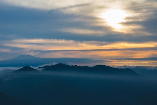 Etna che Fuma visibile da Messina