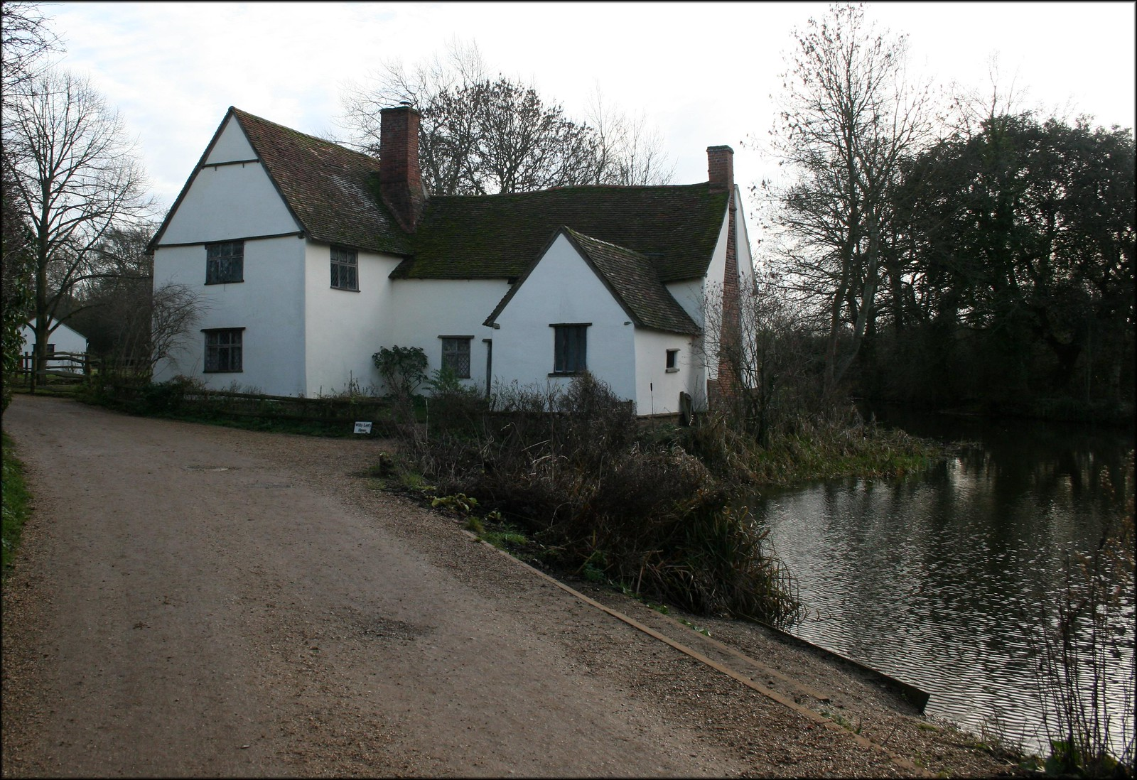Willy Lott's Cottage, Flatford Looking much as painted by Constable