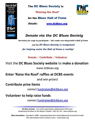 DCBS 'Raises the Roof' for the Blues Hall of Fame!