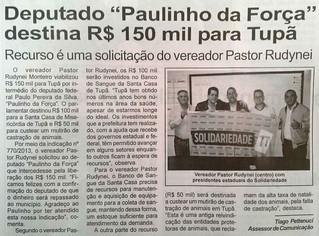 Tupã recebe recursos para Santa Casa e mutirão de castração de animais