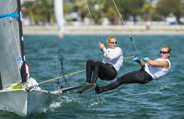 Hanna Klinga & Lisa Ericson: Sailing World Cup 2014, Miami: Medal Race