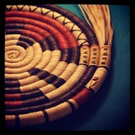Native basket in progress at Antelope Valley Indian Museum
