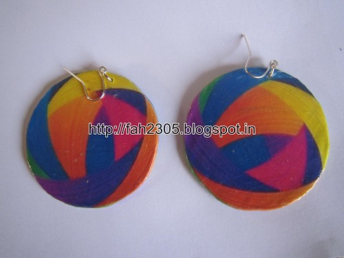 Handmade Jewelry - Paper Earrings (40) by fah2305