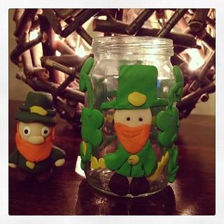 Josie's #fimo #stpatricksday leprechauns.