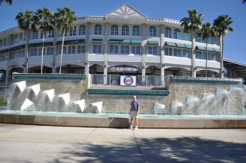 Dad at Hammond Stadium