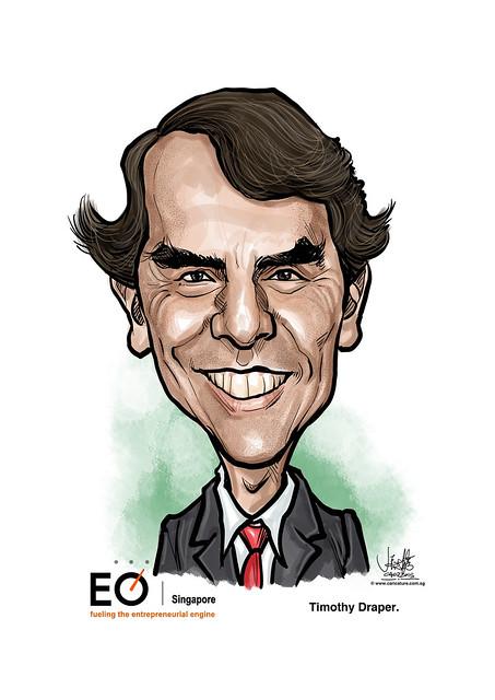 digital caricature for EO Singapore - Timothy Draper