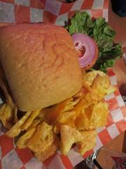 Burger on ciabatta