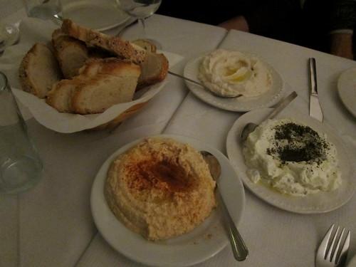 Tzatziki, Taramosalata, Hummus