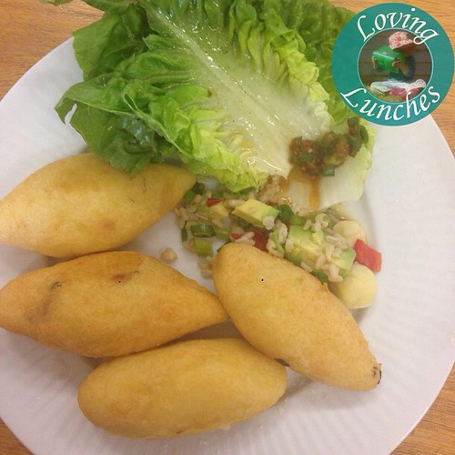 Loving a morning out wih #EmeraldMultiCulturalConnections… today we explored some Peruvian yummis in these potato balls- sorry E, I can't remember how you pronounced them!