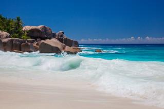 長さ 158 メートルのビーチ の画像. seychelles ladigue grandesoeur