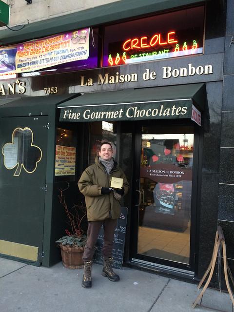 Me in front of La Maison De Bonbon
