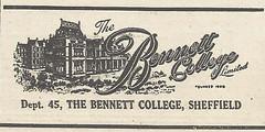 The Bennet College Sheffield Advert