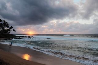 Image of Napili Beach. sunset hawaii maui napili 100240mmf40