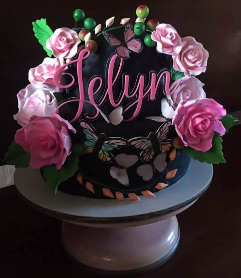 2 Layered in Moist Chocolate and Red Velvet Flavored Cake (All Edible) by Ginalyn Jover