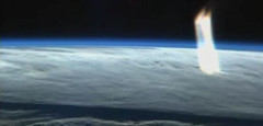 Light Beam seen from ISS