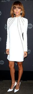 Nicole Richie White Pumps Celebrity Style Women's Fashion