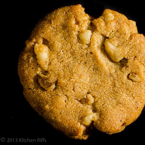 Black-Walnut Sandy Cookie, overhead view
