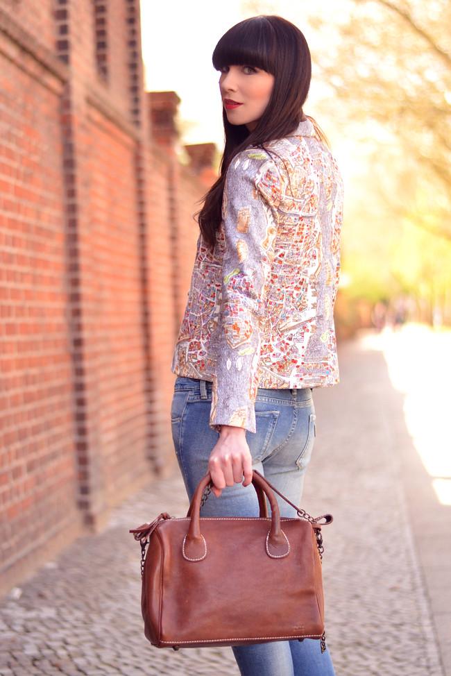 Rockmafia bag outfit Carven blazer 9