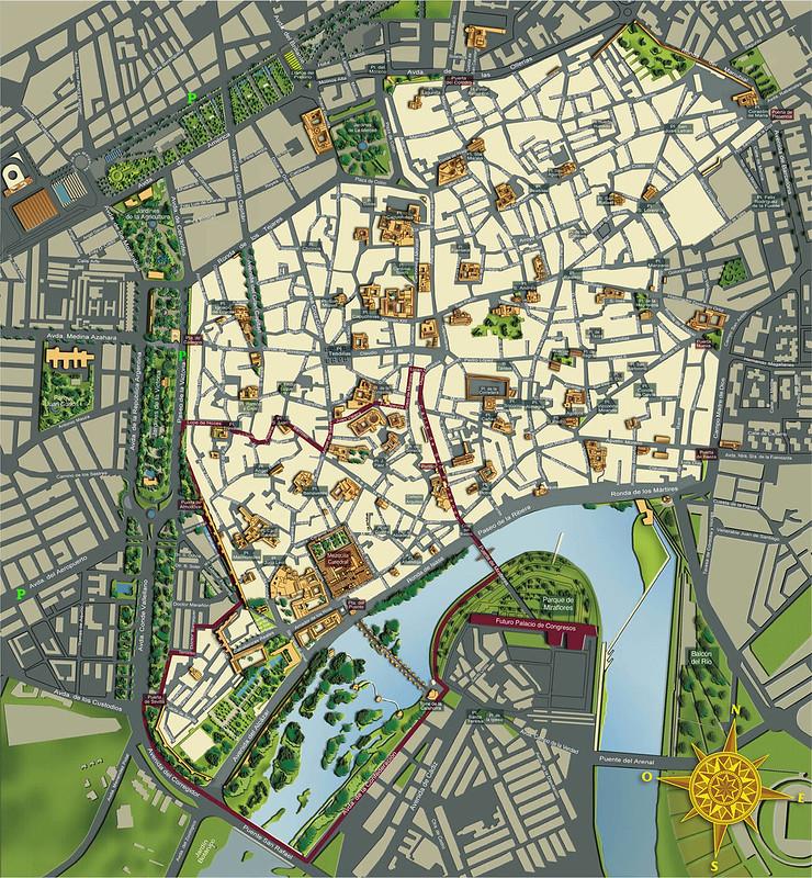 Mapa do centro de Cordova