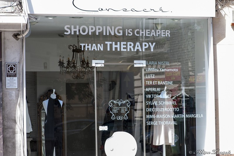 shopping in cheaper then therapy