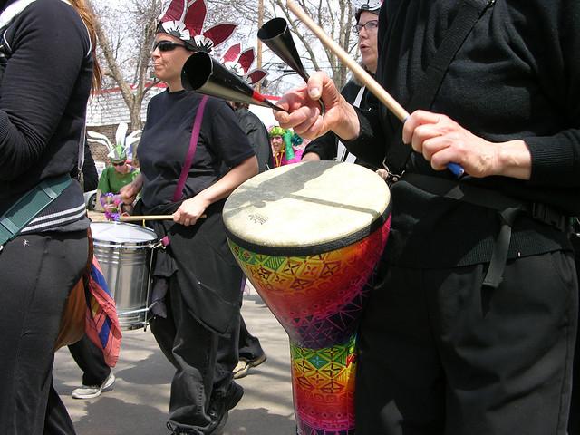 MayDay 2013 drumming