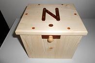Wooden money-box