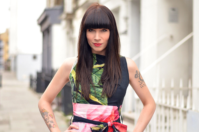 Vivienne Westwood floral dress outfit 8