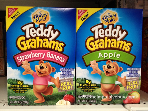 Honey Maid Teddy Grahams Strawberry Banana and Apple