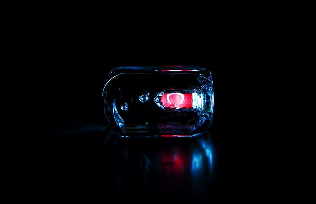 Glass Cube in darkness