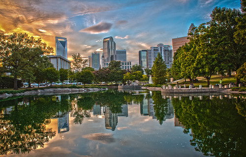 Skyline of Uptown Charlotte, North Carolina. by DigiDreamGrafix.com