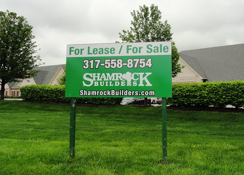 Shamrock Builders For Lease / For Sale Marketing Sign by Redirections Sign & Design