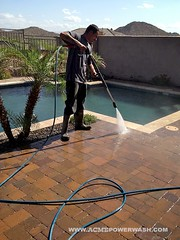 Power Washing Phoenix Pavers and Pool Areas by ACME POWERWASH