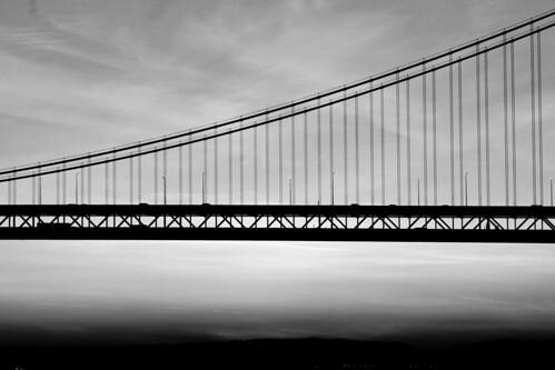 sanfrancisco california bridge bw usa silhouette sunrise unitedstates fav50 unitedstatesofamerica fav20 baybridge fav30 fav10 fav25 fav40
