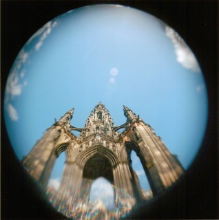 Fisheye - Scott Monument - Edinburgh