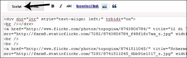 h incolla html