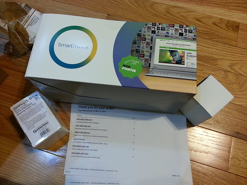 The Kickstarter for SmartThings automation came.