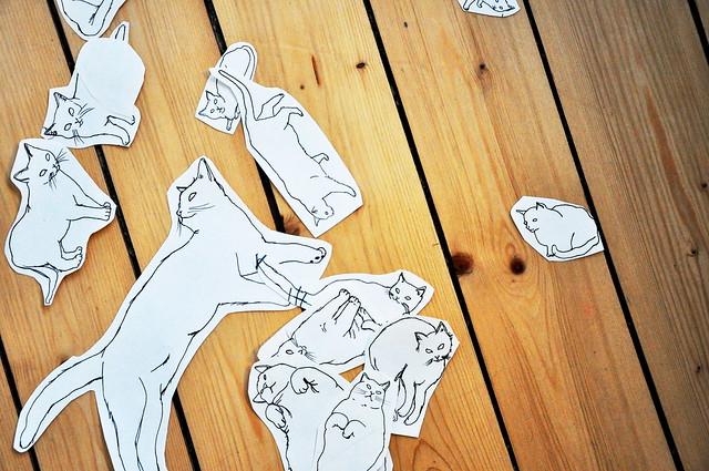 katter på golv