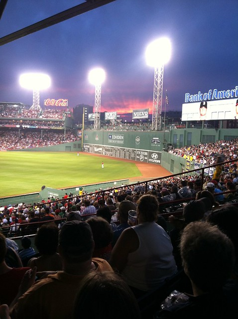 Sunset Over the Green Monster