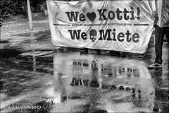demo against rising rents....