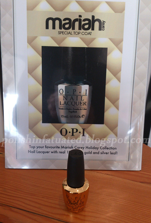 OPI Gold and silver leaf top coat