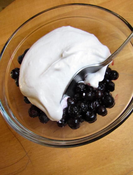 Blueberries Coconut Whipped Coconut Cream