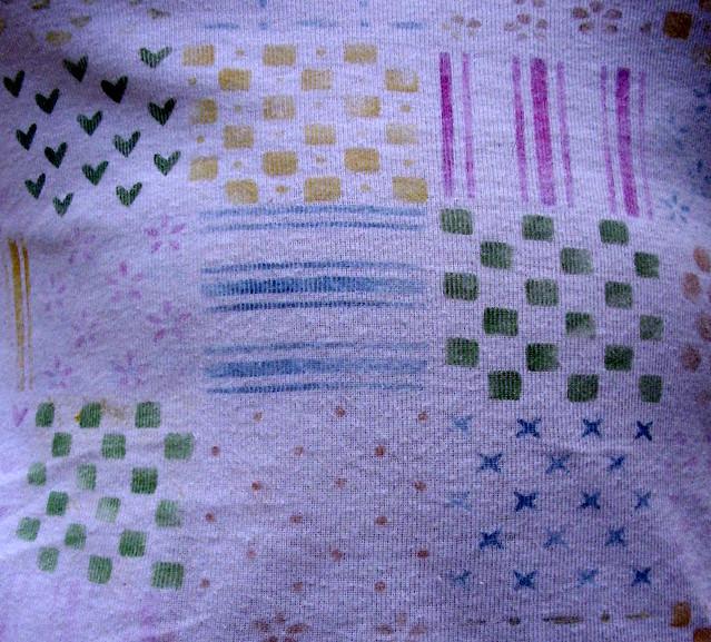 canotta patchwork dipinta a mano - part. 2