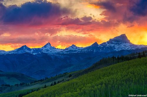 sunset june landscape colorado matterhorn sanjuanmountains uncompahgre wetterhorn
