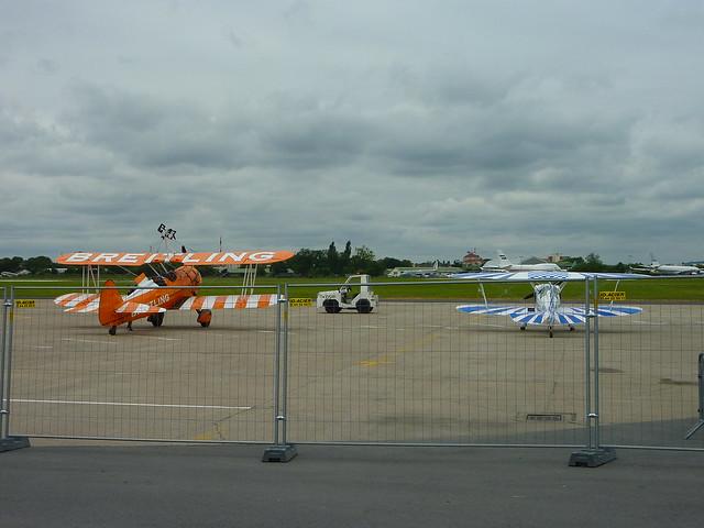 Les premiers aéronefs arrivent sur le Salon